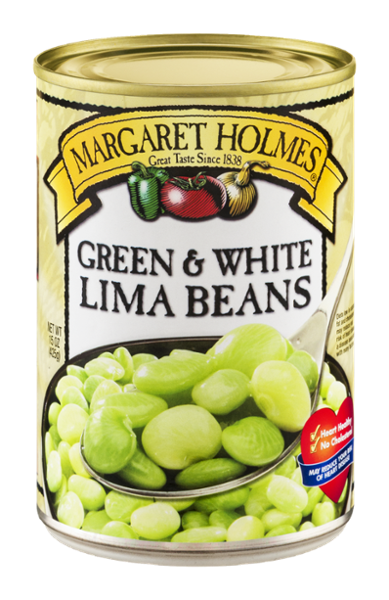 Green and White Lima Beans