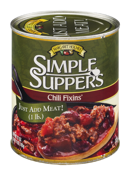 Simple Suppers Chili Fixins'