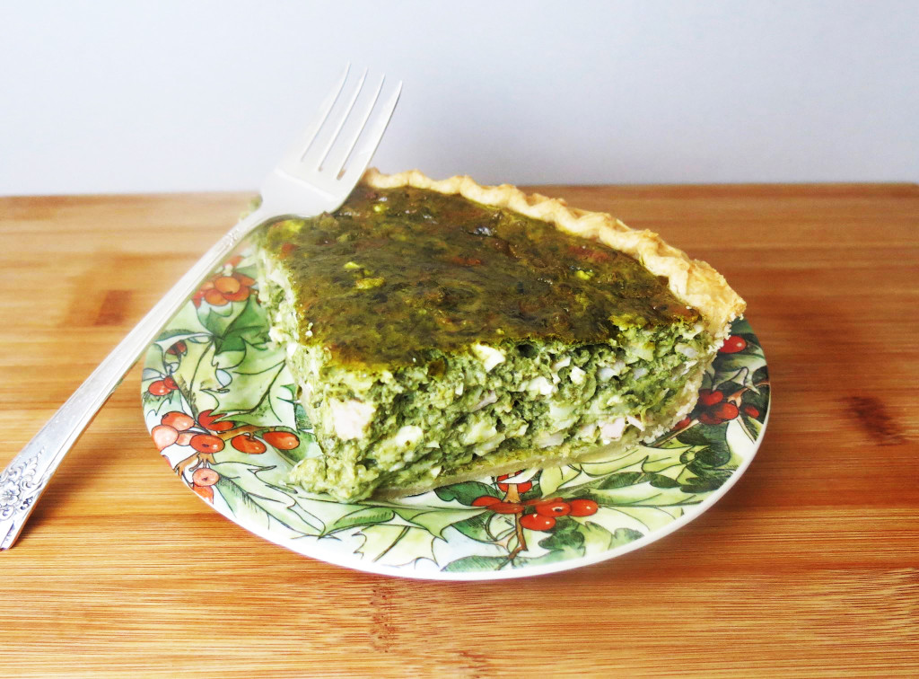 Breakfast Quiche with Greens