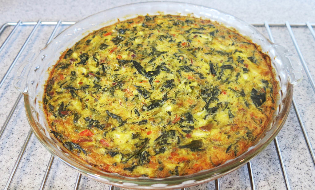 Collard Green & Bacon Frittata