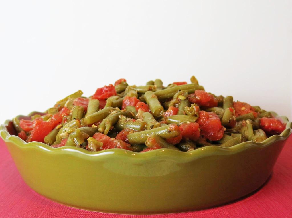 Garlic Green Beans in Tomato Sauce