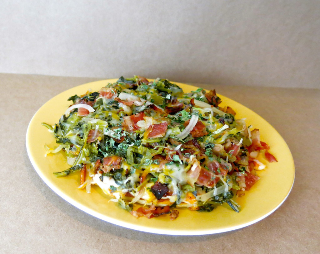 Southern Greens & Bacon Pizza