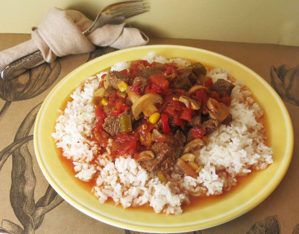 Vivi's Beef Tomatoes, Okra & Corn Stew