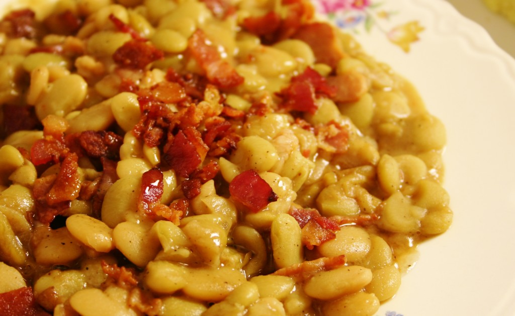 Maple Bacon Lima Beans