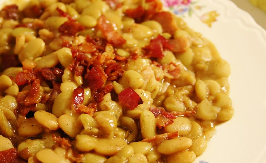 Maple Bacon Lima Beans