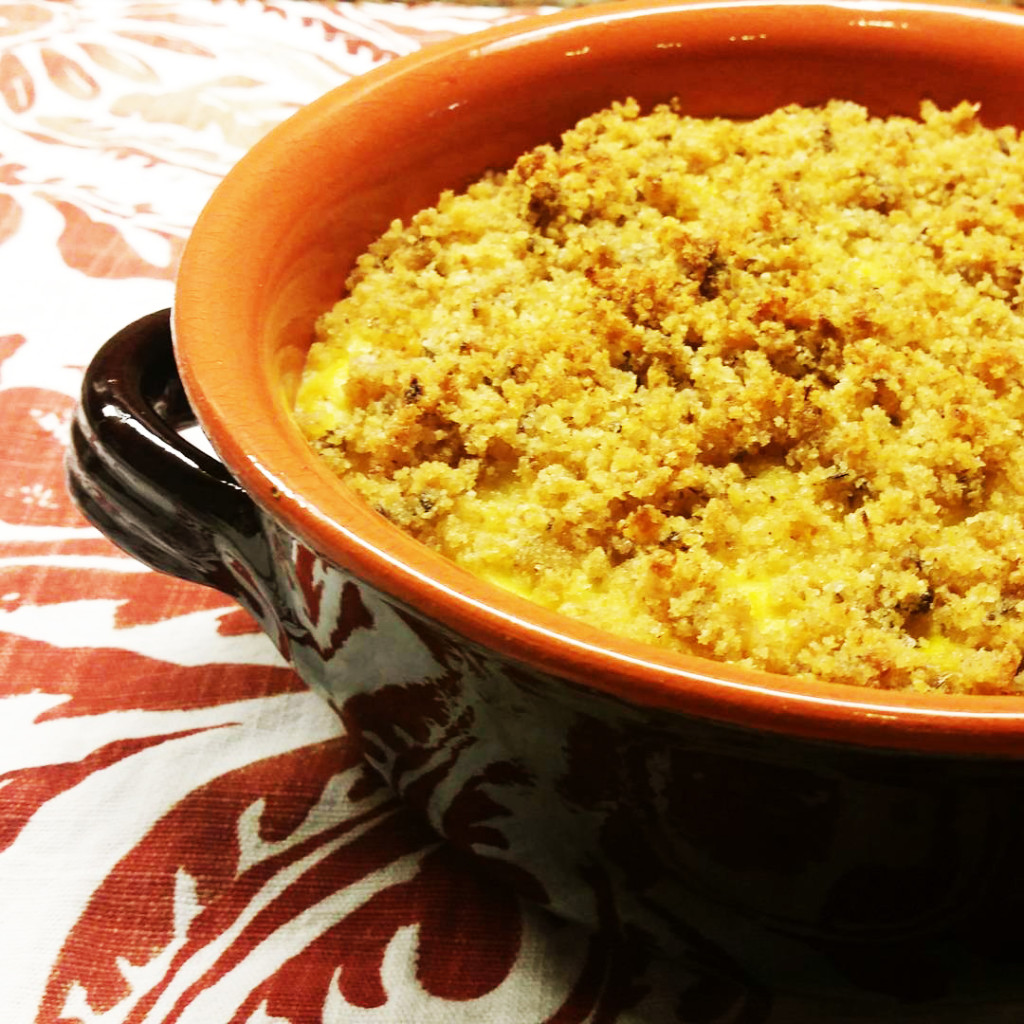 Squash & Onion Casserole with Crunchy Topping