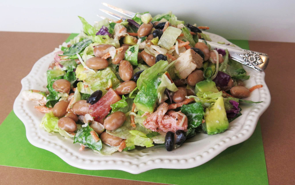 Two Bean Barbecue Chicken Salad