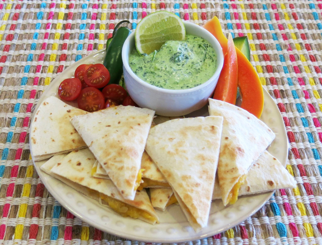 Squash & Vidalia Onion Quesadillas