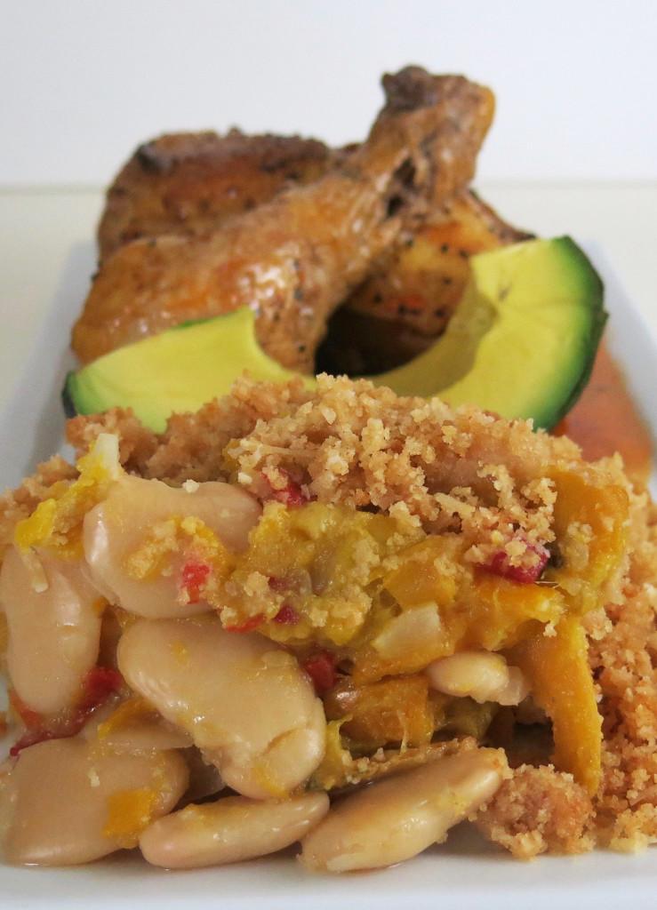 Layered Butter Bean & Squash Supper Casserole