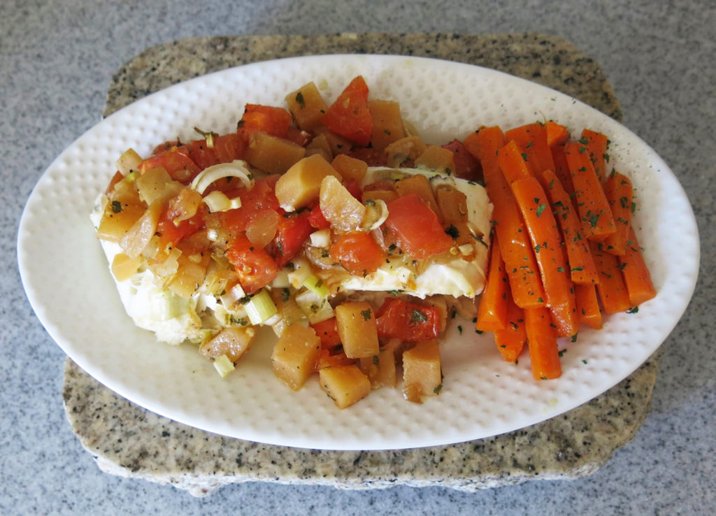 Halibut with Rutabagas
