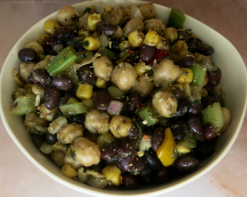 Black Bean & Garbanzo Bean Salad