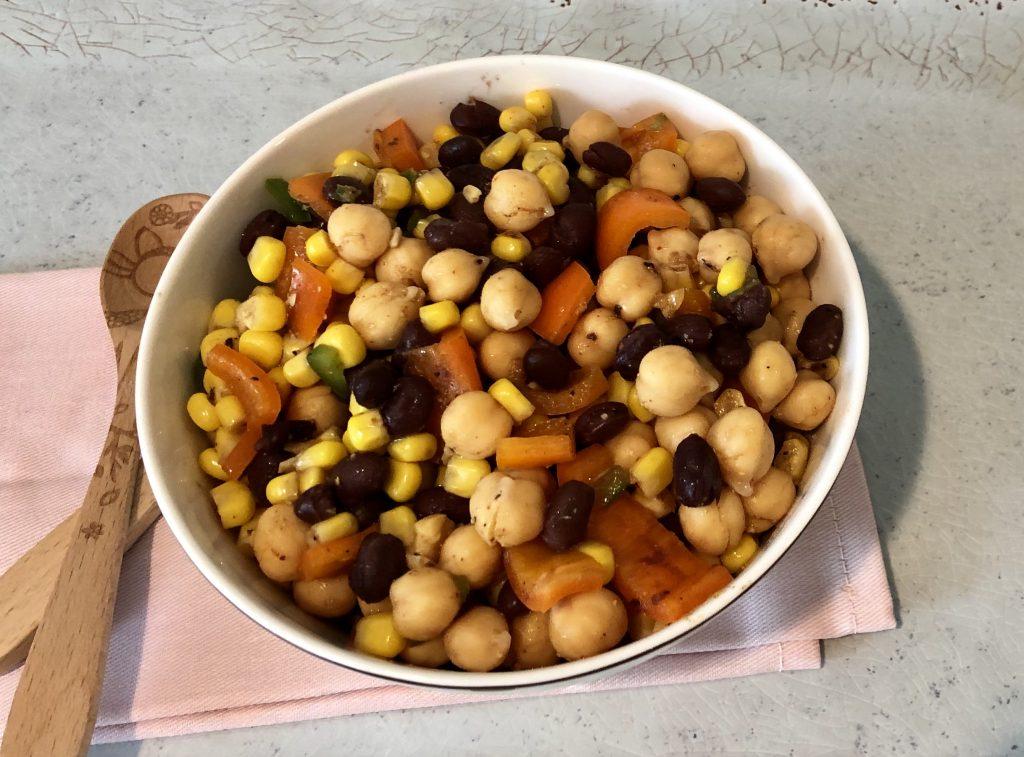 Black Bean & Garbanzo Bean Salad
