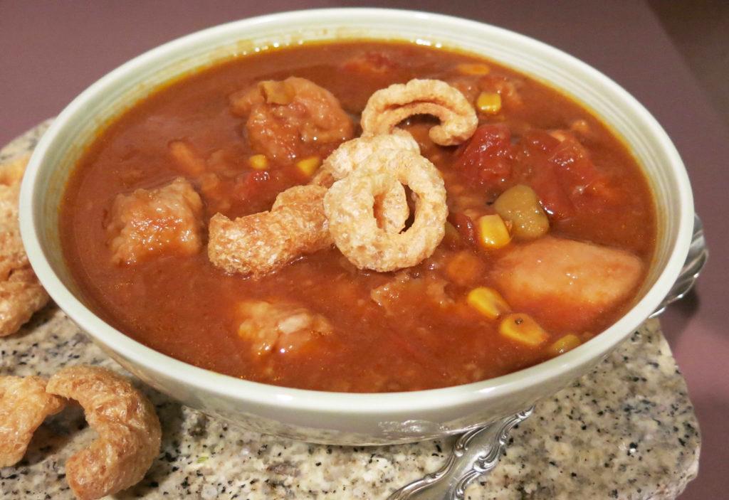 Crockpot Pork & Succotash Stew for Two