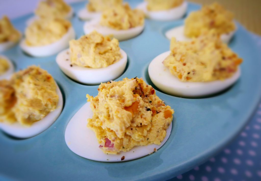 Yellow Squash Deviled Eggs