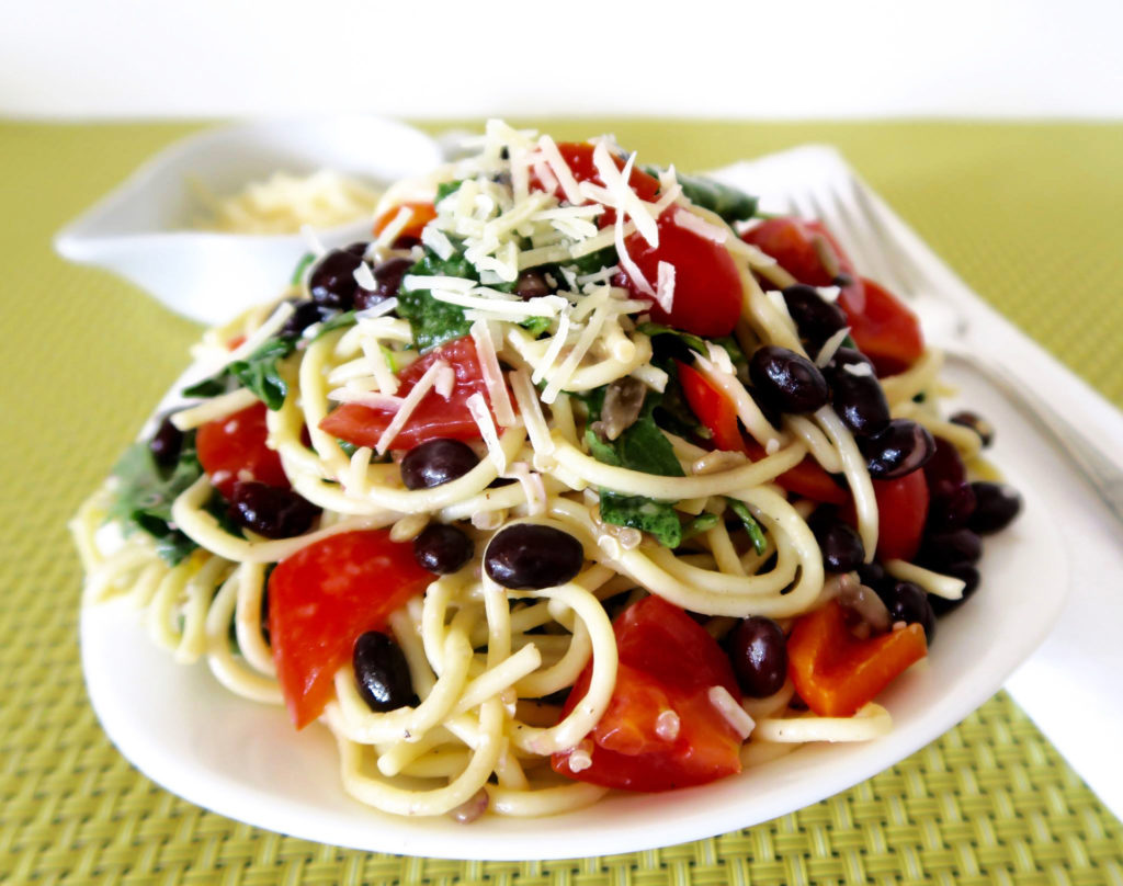 Black Bean Spaghetti Salad