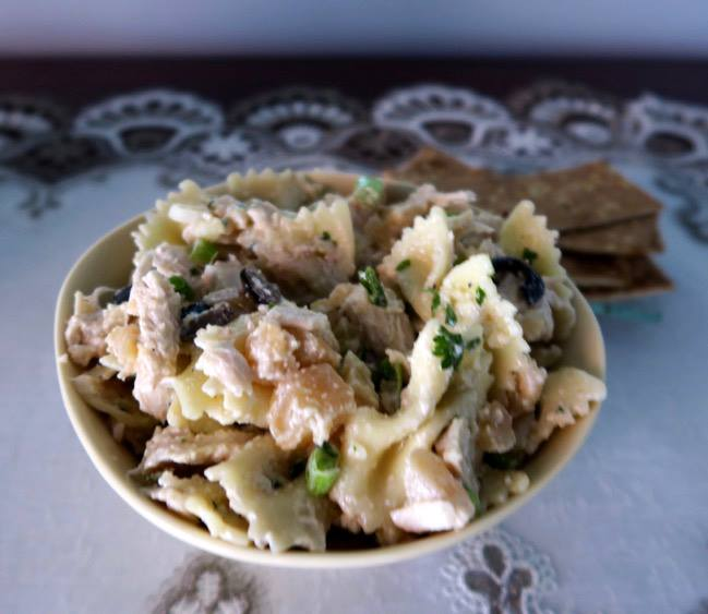 Pasta with Rutabagas, Black Olives and Turkey