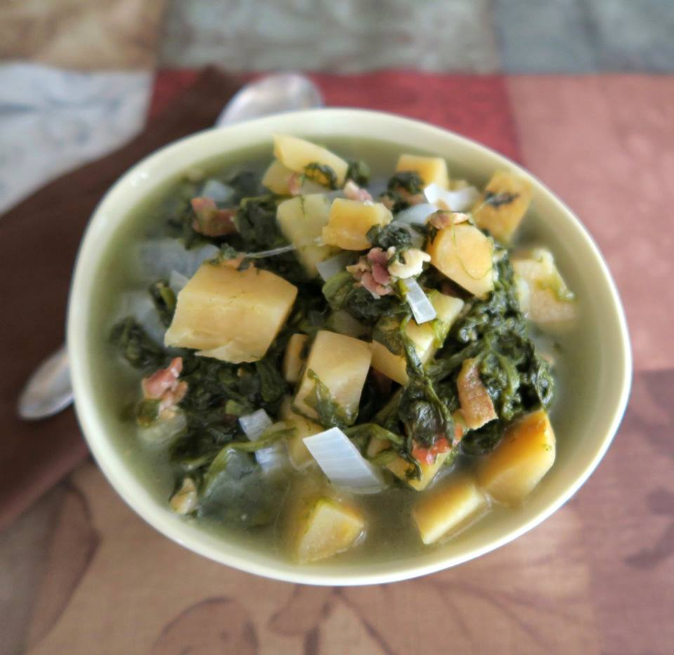 Spinach and Rutabaga Soup