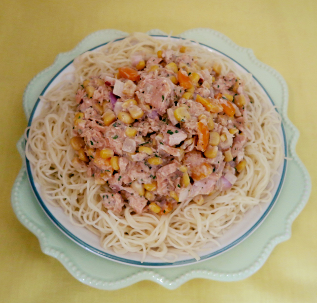 Angel Hair with Creamy Salmon Sauce