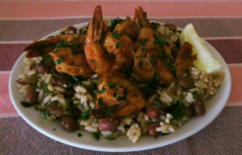 New Orleans BBQ Shrimp with Red Beans & Rice