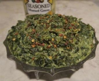 Creamed Mustard Greens