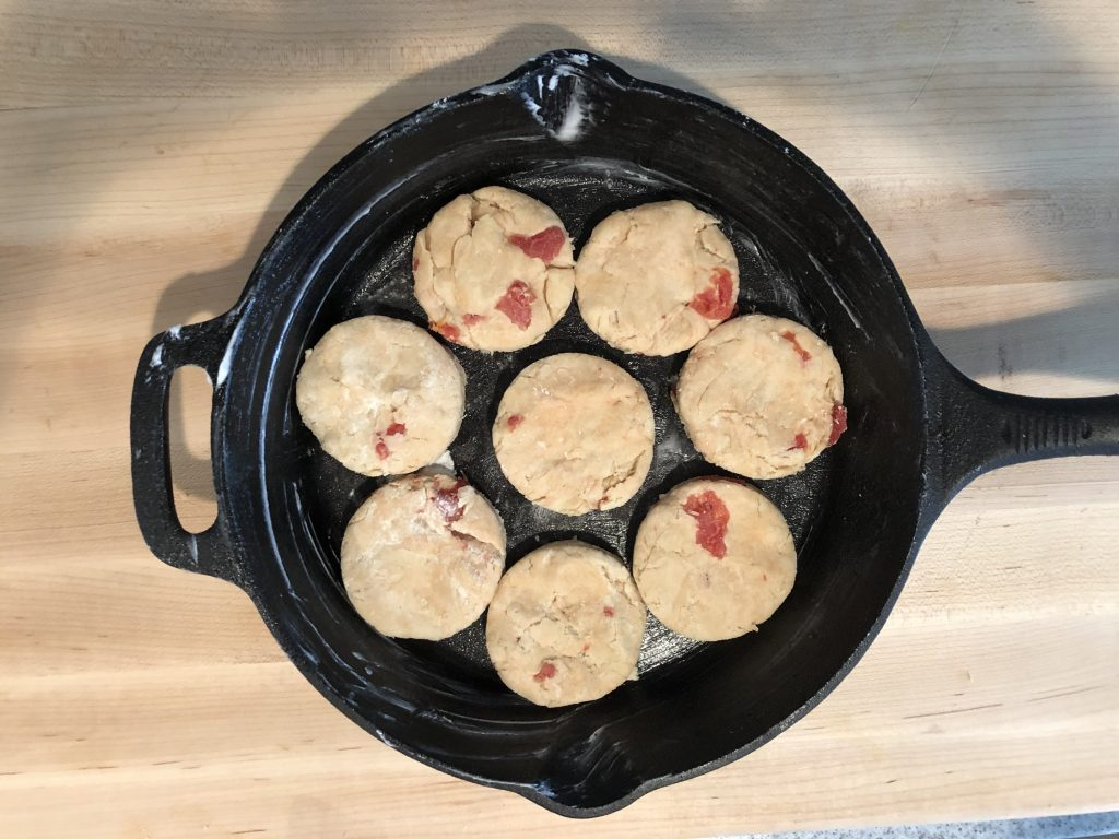 Tomato Biscuits in Cast Iron