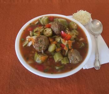 Meatball & Okra Soup