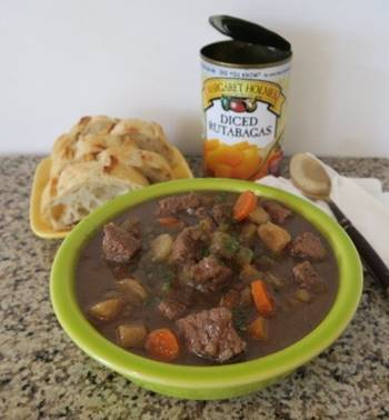 Thick Beef Soup w/ Rutabagas