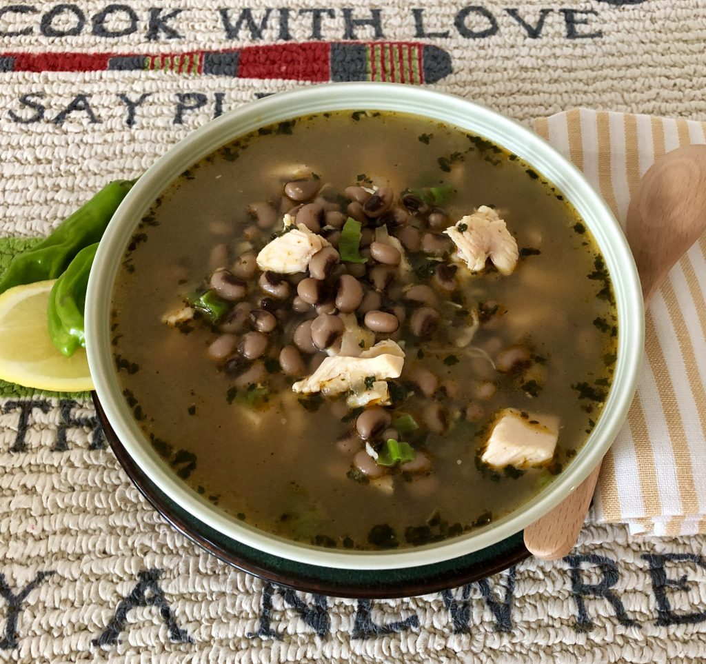 Spicy Blackeye Pea & Chicken Soup