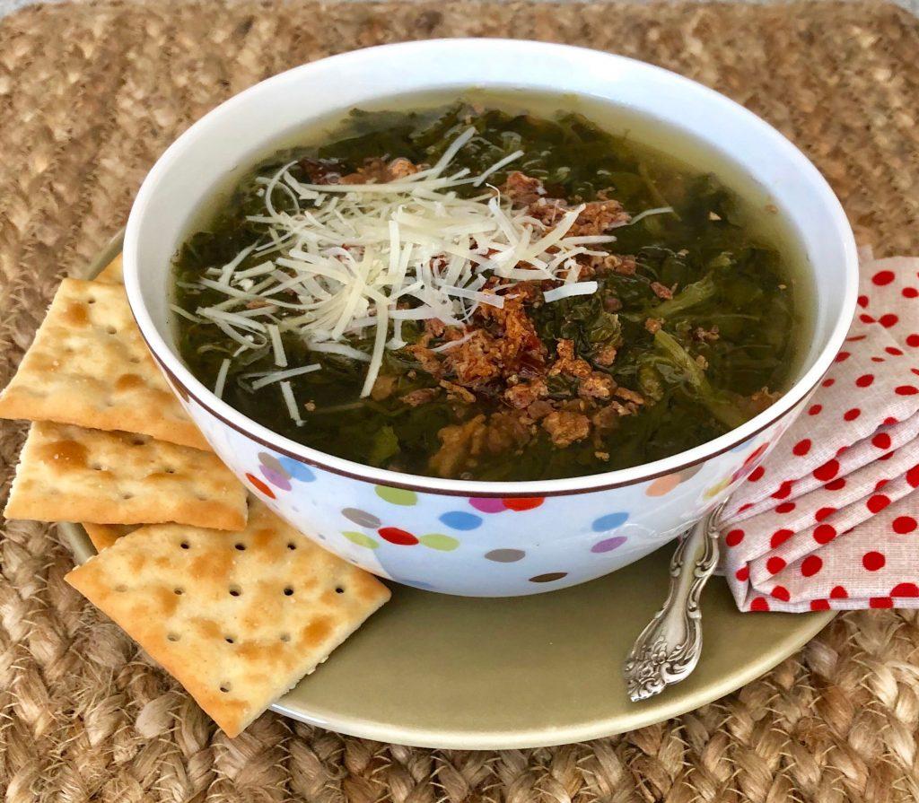 Collard Greens & Bacon Soup