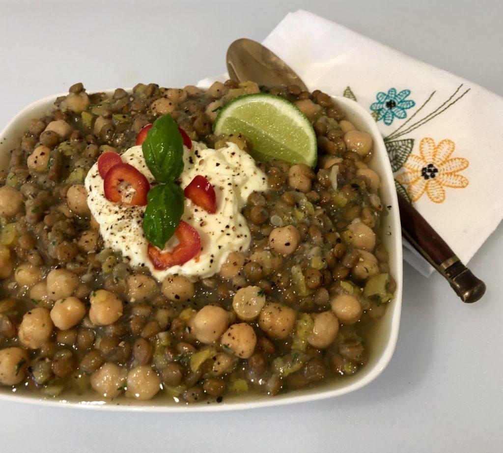 Garbanzo Bean & Yellow Squash and Lentil Dal